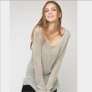 Brandy Melville Classic Oversized Oatmeal Sweater